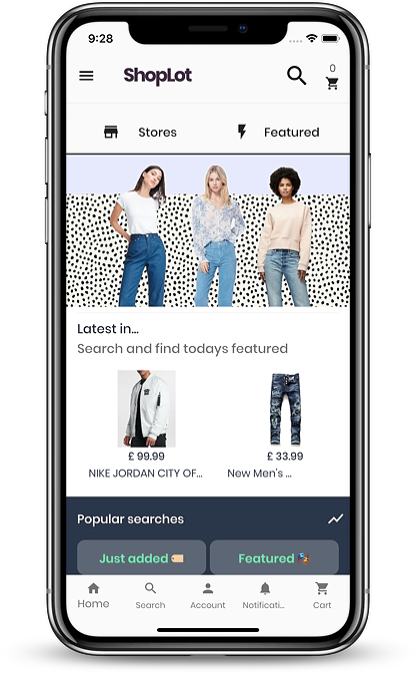 ShopLot app by WooSignal